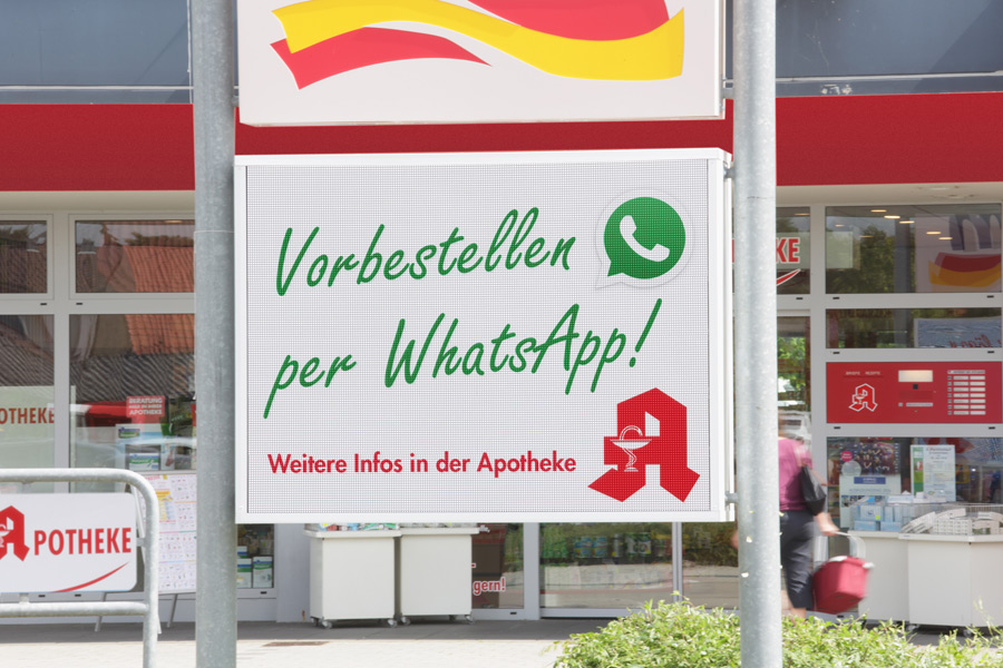 Digitale Werbedisplays - WhatsApp